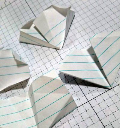 Folding paper practice components