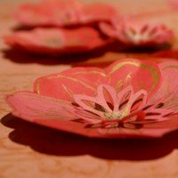 Punched paper flowers