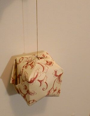 paper ball, origami ball, paper ornaments