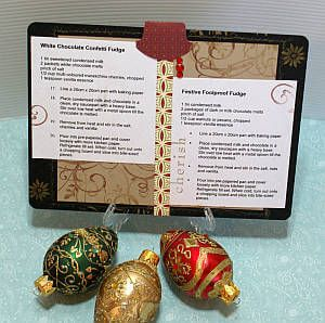 Christmas recipe card