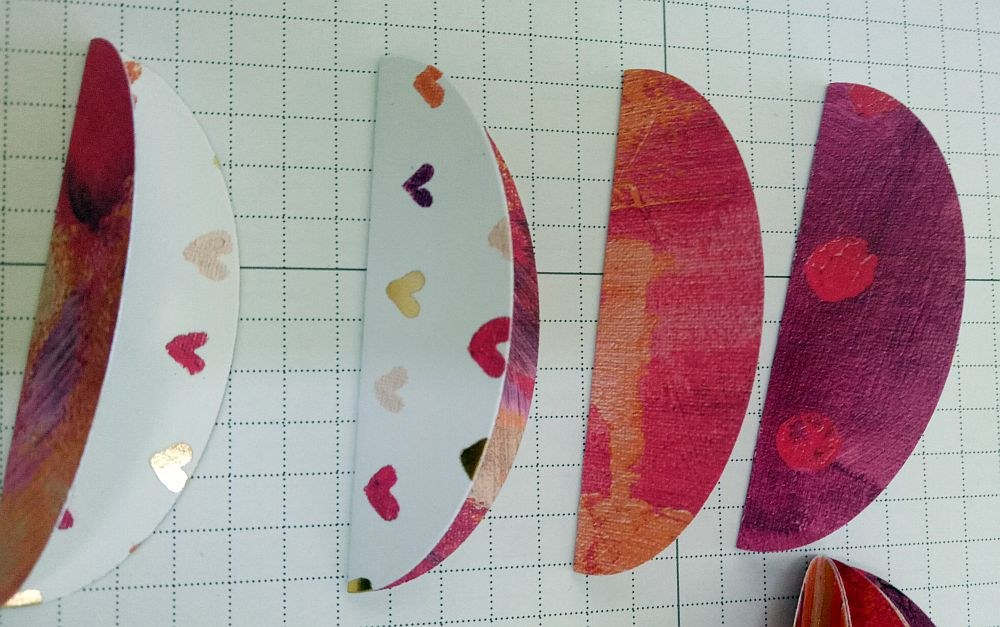 Folded ovals for Easter egg ornaments