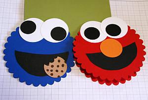 childrens birthday cards, handmade greetings, Big Shot, scallop circle die