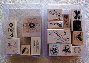 Friendship Blooms and Priceless stamp sets