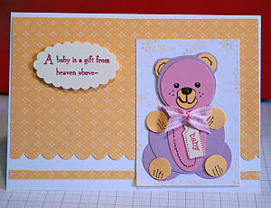 Paper punch bear card