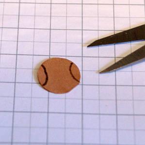 Cutting the paper muzzle shape