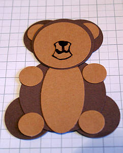 Assembling the paper punch bear
