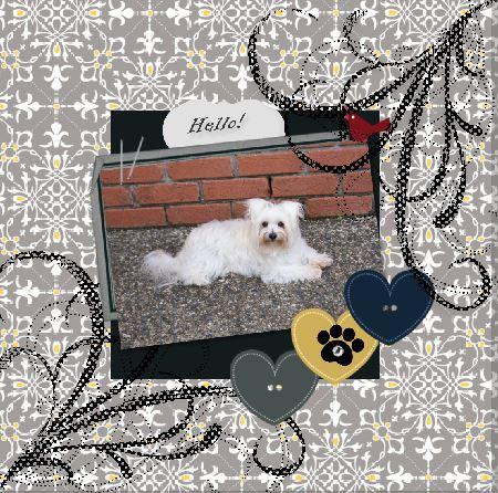 Dog scrapbook page