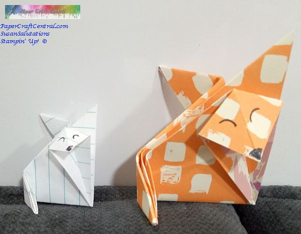 Two Origami Foxes