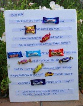 A candy bar card that Susan made