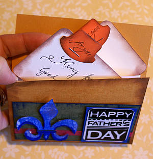 A wallet card made with special gift tokens inside