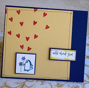 Wild About You Masculine Birthday Card