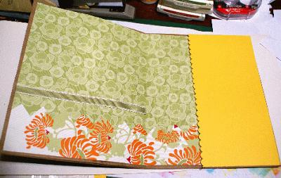 Inside a large card I made showing a few layers of cardstock and designer paper