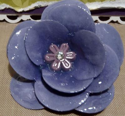 Make paper flowers and seal with Crystal Effects