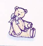 Heat Embossed Teddy Bear