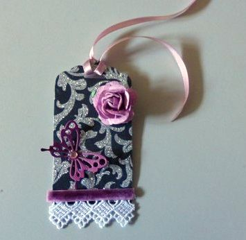 Colleen's tag using part of her competition prize