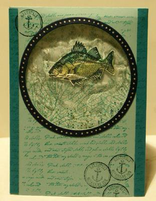 I made a watery card with the By the Tide stamp set here