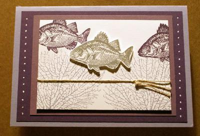 These fish are from the By the Tide stamp set